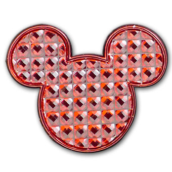 Disney Mickey Mouse Logo Pin - Shining Red Cubes