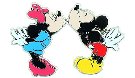 Disney Mickey and Minnie Pin - Magnetic Kiss