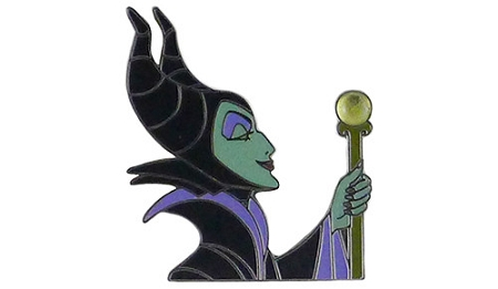 Disney Stone Pin - Maleficent