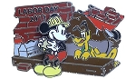 Disney Labor Day Pin - 2013 Mickey Mouse and Pluto - Limited Edition