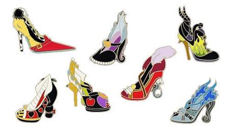Disney Mini Pin Set - Villain Shoes