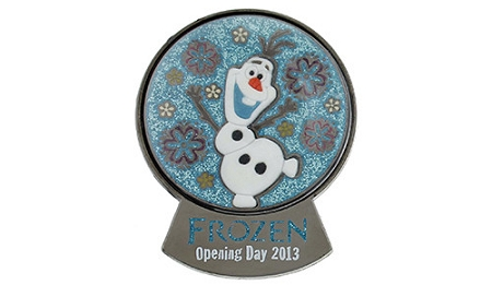 Disney Opening Day Pin - Disney's Frozen Olaf Snowglobe - LE
