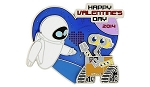 Disney Valentine's Day Pin - 2014 Wall-E and Eve - Limited Edition