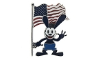 Disney Oswald Pin - Oswald the Lucky Rabbit with US Flag