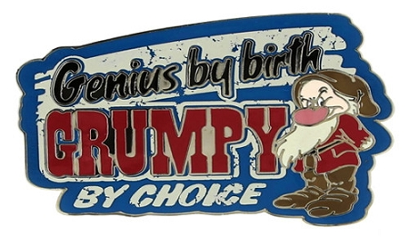 Disney Grumpy Pin - Genius by birth, Grumpy by Choice