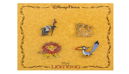 Disney Booster Pin Set - Lion King - Nala Zazu Simba and Rafiki