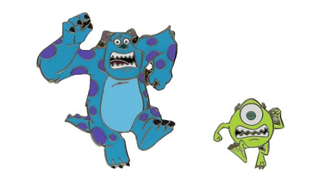 Disney Monsters University Pin - Mike and Sully Running