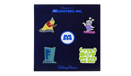 Disney Monsters Inc Booster Pin Set - Sayings and Quotes