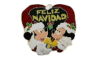 Disney Christmas Pin - Feliz Navidad - Mickey & Minnie Mouse