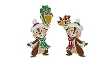 Disney Christmas Pin - Chip and Dale - Acorn Presents