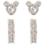 Disney Earrings Set - Mickey Icon and Hoop Set - 2 Piece