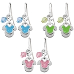 Disney Earrings - Mickey Mouse with Dangle Bead