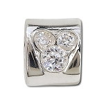 Disney Chamilia Charm - Sterling Silver CZ Mickey Mouse -- Clear