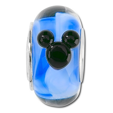 Disney Chamilia Charm - Blue Murano Glass Mickey Mouse