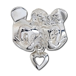 Disney Chamilia Charm - Sterling Silver Minnie and Mickey Mouse Heart