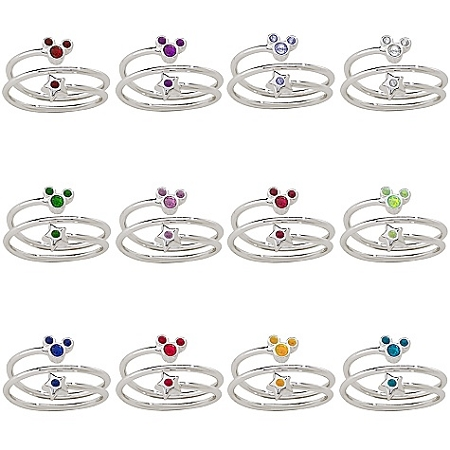 c489ce2de Disney Birthstone Ring - Star and Mickey Mouse - Silver