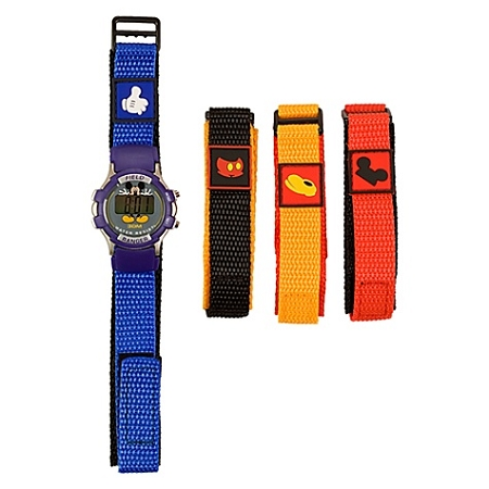 Disney Wrist Watch - Digital Mickey Mouse with 4 Interchangable Bands for Kids