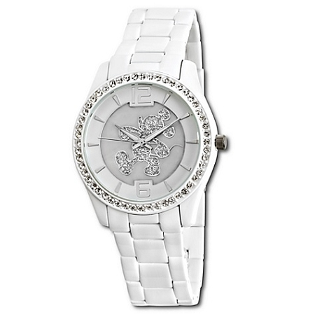 Disney Wrist Watch - Pavé Crystal Mickey Mouse in White