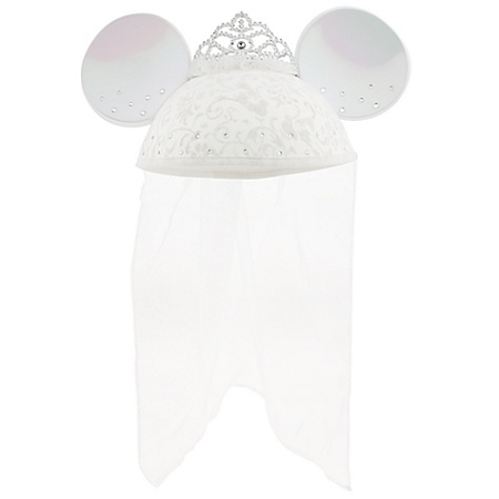 Disney Hat - Ears Hat - Personalized Rhinestone Minnie Mouse - Bride