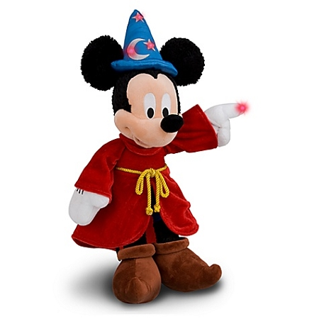 Disney Plush - Light-Up Sorcerer Mickey Mouse Plush Toy -- 15''