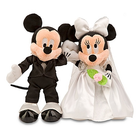 Disney Plush Set Wedding Minnie And Mickey Mouse Plush