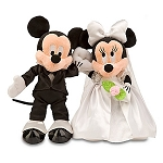 Disney Plush Set - Wedding - Minnie and Mickey Mouse Plush Toys