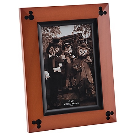 Disney Photo Frame - Beveled Cherry Wood - Mickey Mouse -- 4'' x 6''