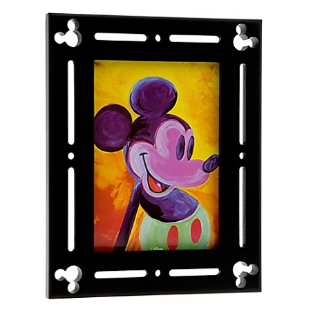 Disney Photo Frame Black Wood Mickey Mouse 5 X 7