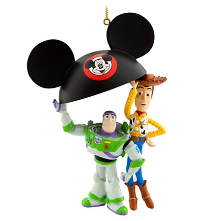 Toy Story Christmas Ornaments.Disney Christmas Ornament Toy Story Buzz And Woody Ear Hat