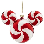 Disney Christmas Ornament - Mickey Mouse Ears - Peppermint Twist