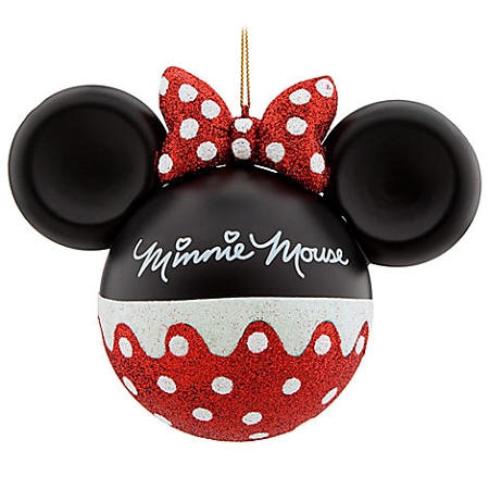 disney christmas ornament mickey mouse ears minnie mouse