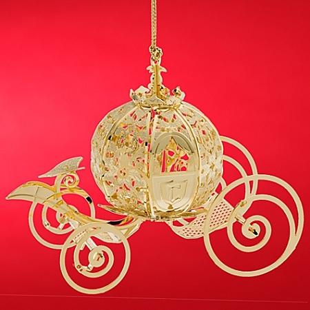 - Disney Christmas Ornament - Cinderella Coach By Baldwin