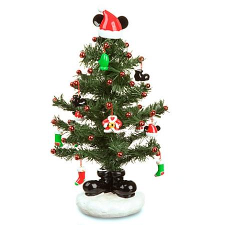 Mickey Mouse Christmas Tree.Disney Christmas Tree Miniature Santa Mickey Mouse Tree