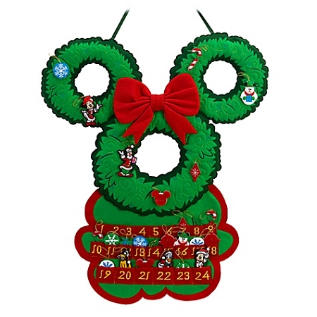 disney christmas advent calendar santa mickey mouse wreath