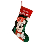 Disney Christmas Stocking - Holiday Santa Minnie Mouse