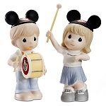 Disney Precious Moments Figurine Set - Come Along and Sing the Song -- 2-Pc.