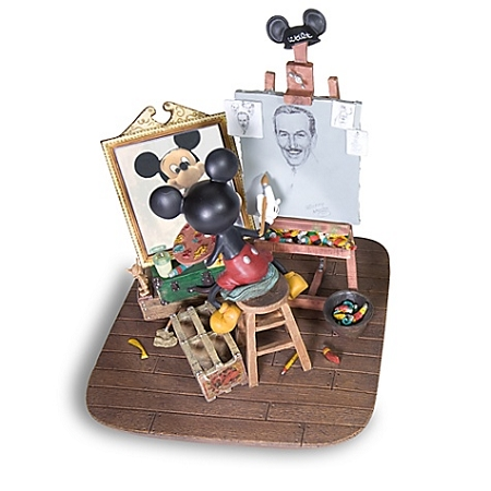 Disney Figurine Self Portrait Walt Disney And Mickey Mouse