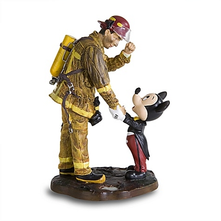 Disney Mickey Mouse Figurine - Fireman and Mickey Mouse