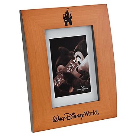 Disney Photo Frame - Wood Castle - Walt Disney World - 5\'\' x 7\'\'