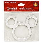 Disney Auto Emblem - Mickey Mouse Icon - Silver