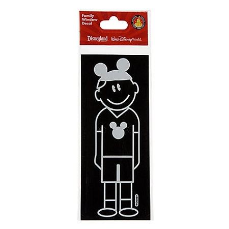 Disney Window Decal - Dad with Mickey Mouse Ear Hat