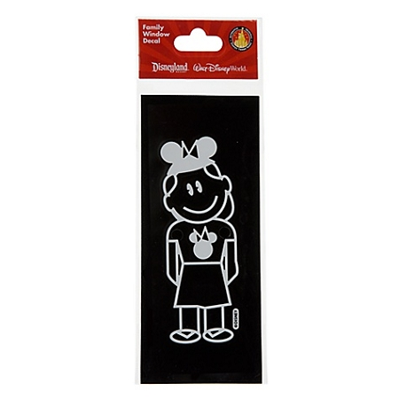 Disney Window Decal - Girl with Mickey Mouse Ear Hat