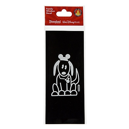 Disney Window Decal - Family Dog with Mickey Mouse Eat Hat