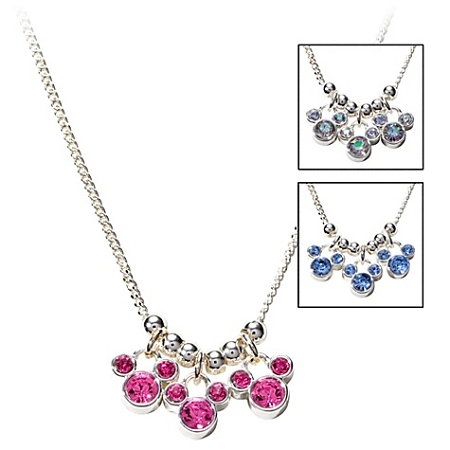 Disney Necklace - Triple Crystal Icon Mickey Mouse