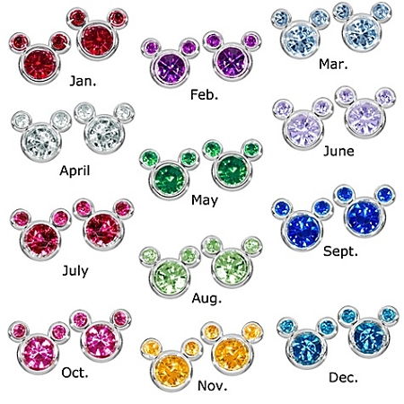 f9e5a3a66 Disney Earrings - Birthstone - Mickey Mouse - Select Month. Tap to expand