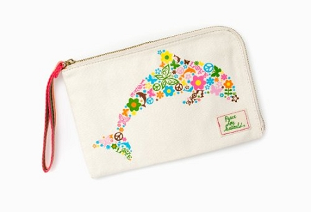 Sea World Wallet - Dolphin - Peace and Love Flower