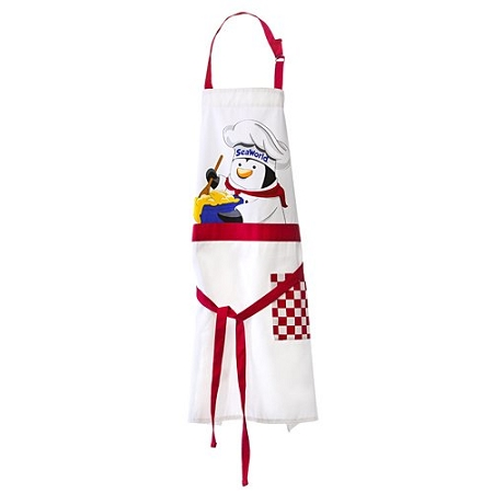 Sea World Apron - Penguin Chef Apron - Adult