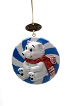 Sea World Christmas Ornament - Polar Bear Candy - Resin