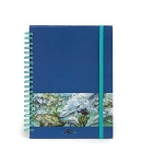 Sea World Journal Notebook - Dolphin and Turtle Art - Spiral