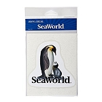 Sea World Auto Window Decal - Penguin and Baby